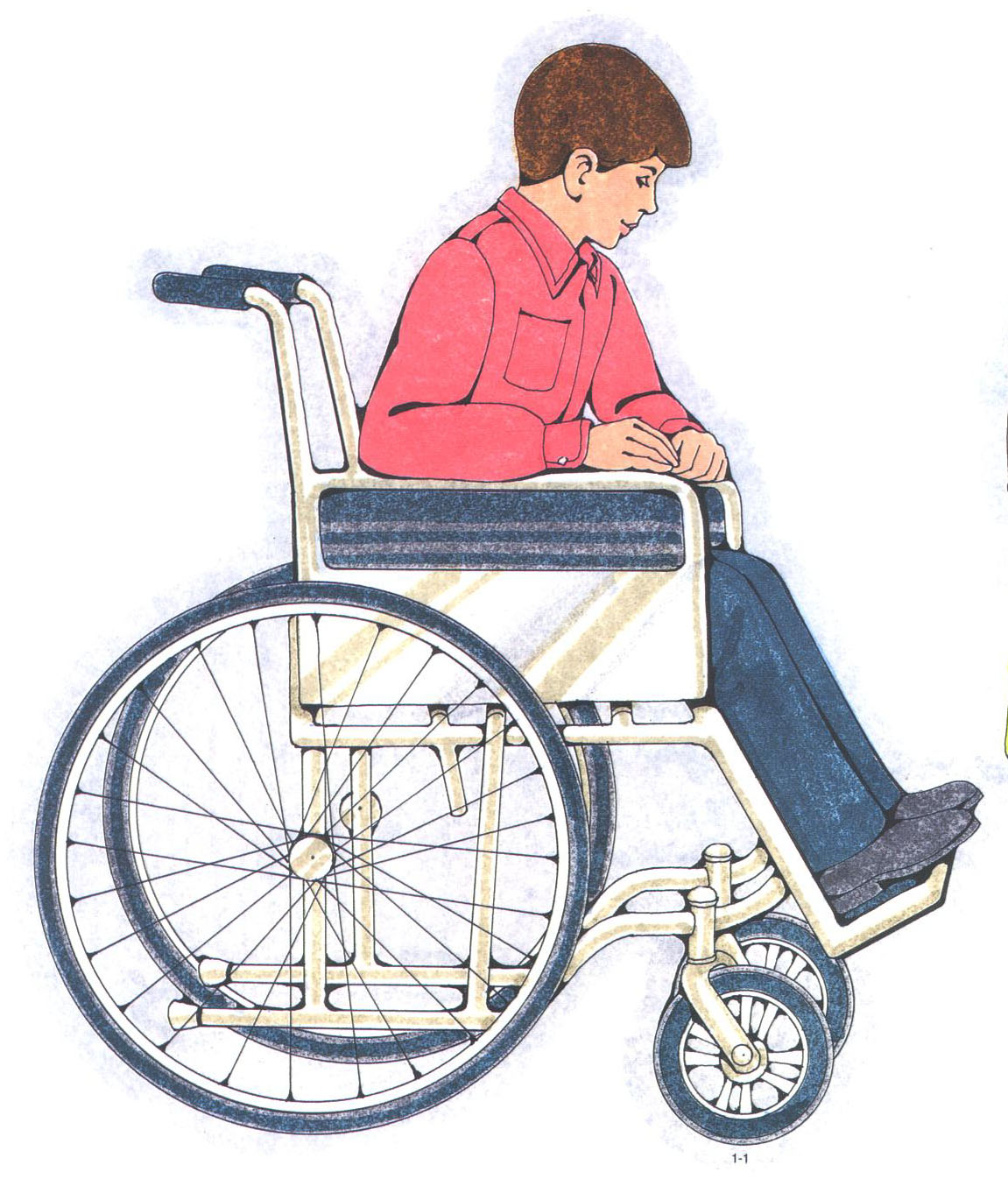 Boy in a wheelchair
